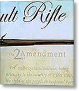 Assault Rifle Metal Print by GCannon