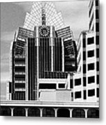 Austin Speaks In Black And White Metal Print by Wendy J St Christopher