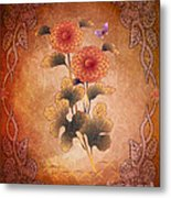 Autumn Blooming Mum Metal Print