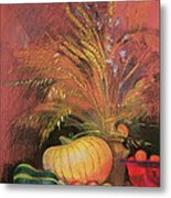 Autumn Harvest Metal Print by Claire Spencer