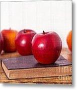 Back To School Apples Metal Print by Edward Fielding