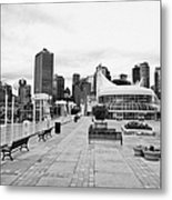 balentien pier canada place and Vancouver waterfront skyline BC Canada Metal Print by Joe Fox