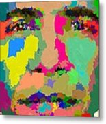 Barack Obama - Abstract 01 Metal Print by Samuel Majcen