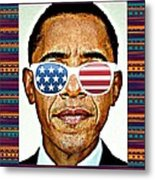 Barack Obama Metal Print by Nuno Marques