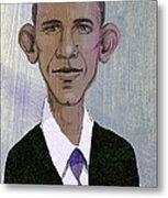 Barack Obama Metal Print by Steve Dininno
