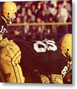 Bart Starr Ready For Snap Metal Print by Retro Images Archive