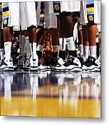 Basketball Court Reflections Metal Print by Replay Photos