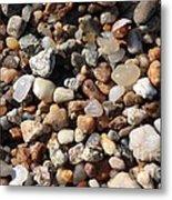Beach Agates Metal Print by Carol Groenen
