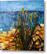 Beach Grass Evanston Beaches Metal Print by Gregory Allen Page