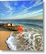 Beached Boat Morning - Outer Banks Metal Print by Dan Carmichael