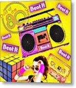 Beat It Metal Print by Mo T