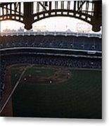 Beatiful View Of Old Yankee Stadium Metal Print