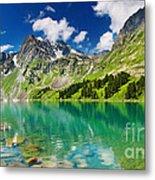 Beautiful Mointain And Lake Metal Print