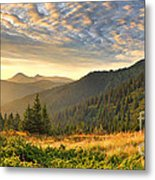 Beautiful Mountains Landscape Metal Print by Boon Mee
