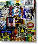 Beer Labels Metal Print by Richard Reeve