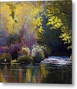 Bending With The River Metal Print