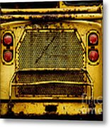 Big Dump Truck Grille Metal Print by Amy Cicconi