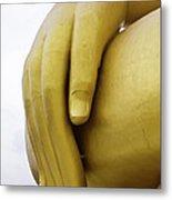 Big Hand Buddha Image Metal Print by Tosporn Preede