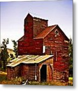 Big Red Grain Elevator Metal Print