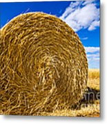 Big Straw Bales Metal Print