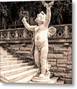 Biltmore Cherub Asheville Nc Metal Print by William Dey