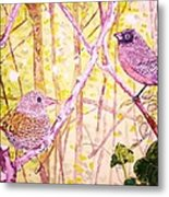 Bird Pair Metal Print by Linda Vaughon