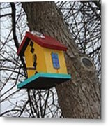 Birdhouse Of Color Metal Print by Margaret McDermott