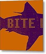 Bite Me Metal Print by Michelle Calkins
