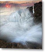 Blowing Rocks Sunrise Explosion Metal Print by Mike  Dawson