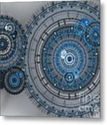 Blue Clockwork Machine Metal Print