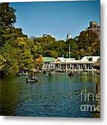 Boat House Central Park New York Metal Print by Amy Cicconi