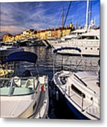 Boats At St.tropez Metal Print