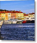 Boats At St.tropez Harbor Metal Print by Elena Elisseeva