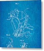 Bohlin Seatbelt Patent Art 1962 Blueprint Metal Print by Ian Monk