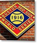 Boston Red Sox 1916 World Champions Metal Print