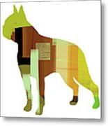 Boston Terrier Metal Print by Naxart Studio