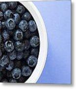 Bowl Of Blueberries Metal Print