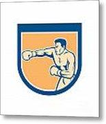 Boxer Boxing Punching Shield Cartoon Metal Print