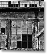 Broken Windows In Black And White Metal Print by Paul Ward