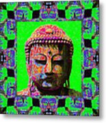 Buddha Abstract Window 20130130m180 Metal Print