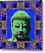 Buddha Abstract Window 20130130m68 Metal Print by Wingsdomain Art and Photography