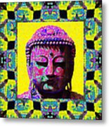 Buddha Abstract Window 20130130p120 Metal Print by Wingsdomain Art and Photography