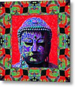 Buddha Abstract Window 20130130p55 Metal Print by Wingsdomain Art and Photography