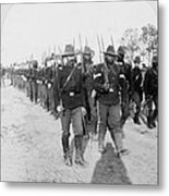 Buffalo Soldiers Of The 24th U.s Metal Print