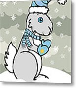 Bunny Winter Metal Print by Christy Beckwith