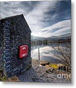 Buoy At Lake Metal Print by Adrian Evans