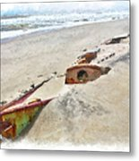 Buried Treasure - Shipwreck On The Outer Banks II Metal Print by Dan Carmichael