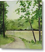 By The River Metal Print by Becky West