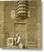 Cairo Funerary Or Sepuchral Mosque Metal Print by Emile Prisse d'Avennes