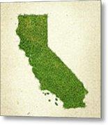 California Grass Map Metal Print